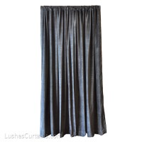14 ft High Cotton Velvet Curtains w/Rod Pocket Top