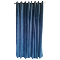 9 ft High Cotton Velvet Curtains With Grommet Eyelet Top