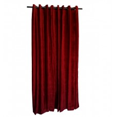 8 ft High Cotton Velvet Curtains With Grommet Eyelet Top