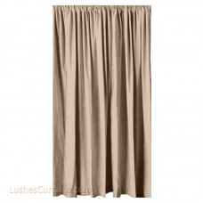 13 ft High Cotton Velvet Curtains w/Rod Pocket Top