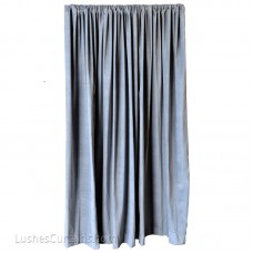 15 ft High Cotton Velvet Curtains w/Rod Pocket Top