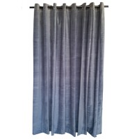 10 ft High Cotton Velvet Curtains With Grommet Eyelet Top