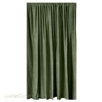 6 ft High Cotton Velvet Curtains w/Rod Pocket Top