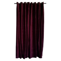 11 ft High Cotton Velvet Curtains With Grommet Eyelet Top