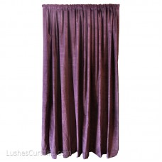 9 ft High Cotton Velvet Curtains w/Rod Pocket Top