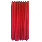 7 ft High Cotton Velvet Curtains With Grommet Eyelet Top