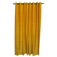 13 ft High Cotton Velvet Curtains With Grommet Eyelet Top