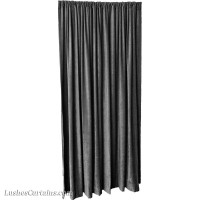 11 ft High Fire Rated Velvet Curtains w/Rod Pocket Top