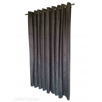 7 ft High Fire Rated Velvet Curtains With Grommet Eyelet Top