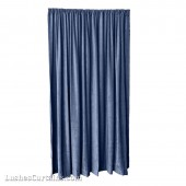 8 ft High Fire Rated Velvet Curtains w/Rod Pocket Top