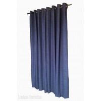 10 ft High Fire Rated Velvet Curtains With Grommet Eyelet Top
