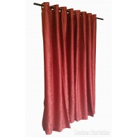 8 ft High Fire Rated Velvet Curtains w/Grommet Eyelet Top