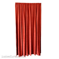 6 ft High Fire Rated Velvet Curtains w/Rod Pocket Top