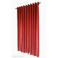 6 ft High Fire Rated Velvet Curtains With Grommet Eyelet Top