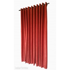 6 ft High Fire Rated Velvet Curtains w/Grommet Eyelet Top