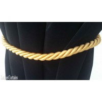 Gold Curtain Rope Tie Backs
