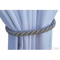 Silver Curtain Thick Rope Tie Backs