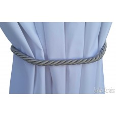 Silver Curtain Thin Rope Tie Backs
