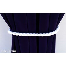 White Curtain Thick Rope Tie Backs