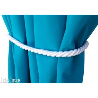 White Curtain Rope Tie Backs