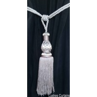 Silver Curtain Tie Backs