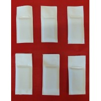 Lead White Vinyl Covered Curtain Hem Weights